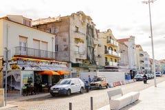 Nazare,葡萄牙海岸  免版税库存图片