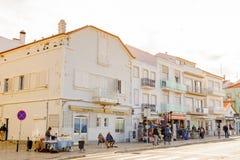 Nazare,葡萄牙海岸  图库摄影