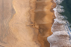 nazare Португалия пляжа Стоковое Изображение RF