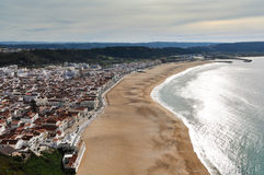 Nazare Aerial View Royalty Free Stock Photo