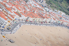 Nazare beach Stock Photos