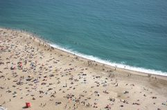 Nazare beach Stock Image