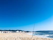Beach. Nazare beach in Portugal stock photo