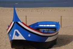 Nazare boat Stock Photos