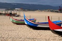 Nazare boats Stock Image