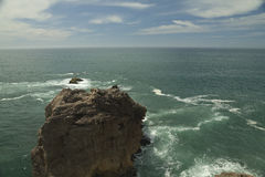 Nazare Cliff in Portugal. Ocean view from Cliff, Nazare, Portugal royalty free stock image