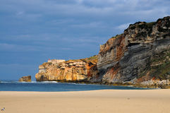 Nazare coastline Royalty Free Stock Photography