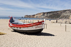 Nazare Fishing Boats Royalty Free Stock Images
