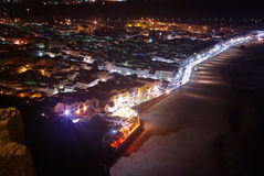 Nazare la nuit Photo stock