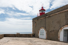 Nazare-Leuchtturm, Portugal Lizenzfreie Stockfotografie