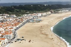 Nazare is one of the most popular seaside resorts in Portugal, c stock image