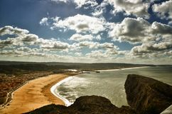 Nazare is a popular seaside resorts in Portugal. Nazare is one of the most popular seaside resorts in Portugal, considered by some to be among the best beaches Stock Photos