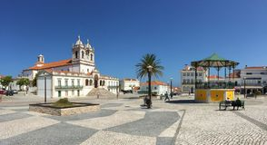 Nazare - picturesque Sitio neighbourhood royalty free stock photography