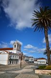 Nazare is a popular seaside resorts in Portugal. Nazare is one of the most popular seaside resorts in Portugal, considered by some to be among the best beaches royalty free stock image
