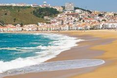 Nazare, Portogallo Fotografia Stock Libera da Diritti