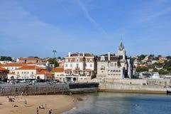 Nazare, Portogallo Fotografie Stock