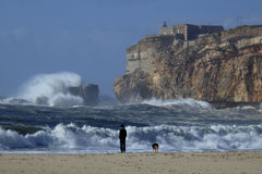 Nazare Portugal Stock Images