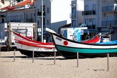 Nazare Portugal - November 5, 2017: färgrik traditionell gammal wo Arkivfoton