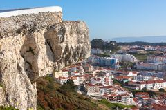 Nazare, Portugal, View from Cliff Above Royalty Free Stock Photo