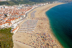 Nazare in Portugal Stock Image
