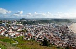 Nazare, Praia and Pederneira, seen from Sítio Royalty Free Stock Photo
