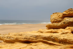 Nazare rocks, Portugal Royalty Free Stock Photography