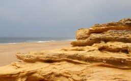 Nazare rocks, Portugal Stock Photography