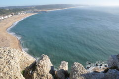 Nazare on the silver coast Portugal royalty free stock images
