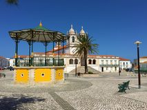 Nazare - Sitio neighbourhood square stock photography