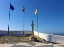 Nazare, Sitio neighbourhood widok Vasco De Gama Krzyżujący - zdjęcie royalty free