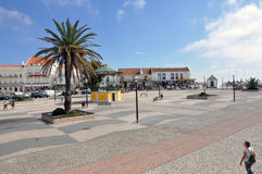 Nazare stad, Portugal Royaltyfri Fotografi