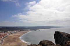 Nazare stad, Portugal Arkivfoto