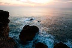 Nazare sunset Royalty Free Stock Photography