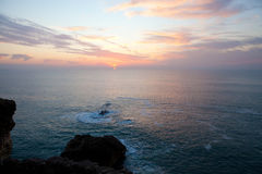 Nazare sunset Stock Photography