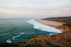 Nazare surf beach Royalty Free Stock Photo