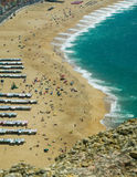 Nazare touristic beach Stock Image