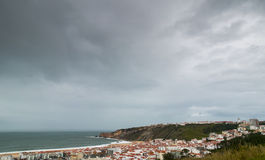 Nazare view Stock Images