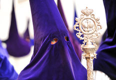 Nazarene σε Triana, αδελφοσύνη της ελπίδας, ιερή εβδομάδα στη Σεβίλη, Ανδαλουσία, Ισπανία στοκ εικόνα με δικαίωμα ελεύθερης χρήσης