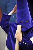 Nazarene child in Triana, brotherhood of Hope, Holy Week in Seville, Andalusia, Spain Stock Image