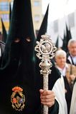 Nazarene de Triana, fraternidad de la esperanza, semana santa en Sevilla, Andalucía, España Fotos de archivo