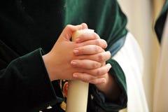 Nazarene de Triana, semana santa en Sevilla, Andalucía, España Fotografía de archivo