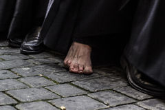 Nazarene descalzo Fotografía de archivo libre de regalías
