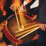 Nazarene drum. royalty free stock photos