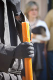 Nazarene holding candle Royalty Free Stock Photo