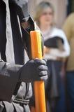 Nazarene holding candle Royalty Free Stock Photo