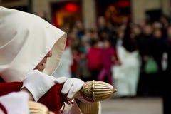 Nazarene in holly week in Spain. Nazarene profile during the holly week in Spain Stock Photo