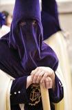 Nazarene w Triana, bractwo nadzieja, Święty tydzień w Seville, Andalusia, Hiszpania Obrazy Royalty Free