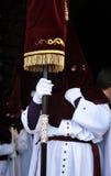 Nazarenes, Święty tydzień w Baeza, Jaen prowincja, Andalusia, Hiszpania Zdjęcia Royalty Free