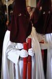 Nazarenes, ιερή εβδομάδα Baeza, Jae'n επαρχία, Ανδαλουσία, Ισπανία στοκ φωτογραφία