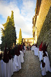Nazarenes, Holy Week in Baeza, Jaen province, Andalusia, Spain Royalty Free Stock Photos